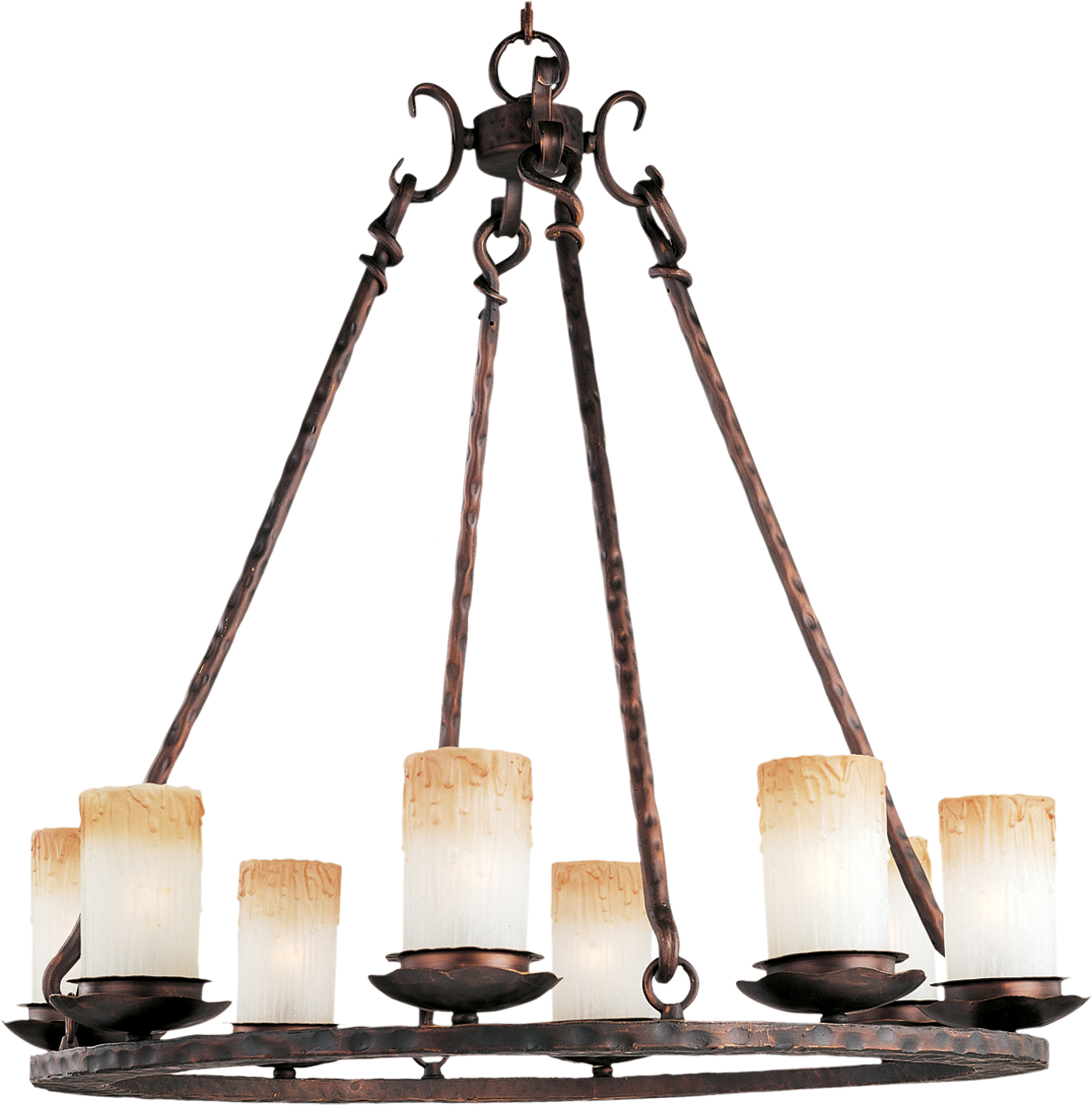 Notre Dame 8 Light Chandelier Single Tier Chandelier Maxim