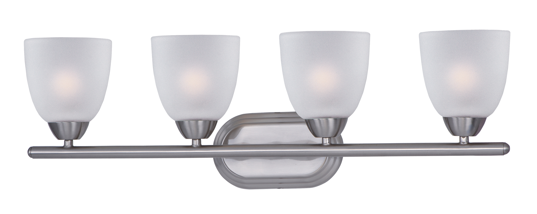 Satin Nickel Ceiling Lights Bathroom Vanity Chandelier: Maxim Lighting Axis 4 Light Bath Vanity In Satin Nickel