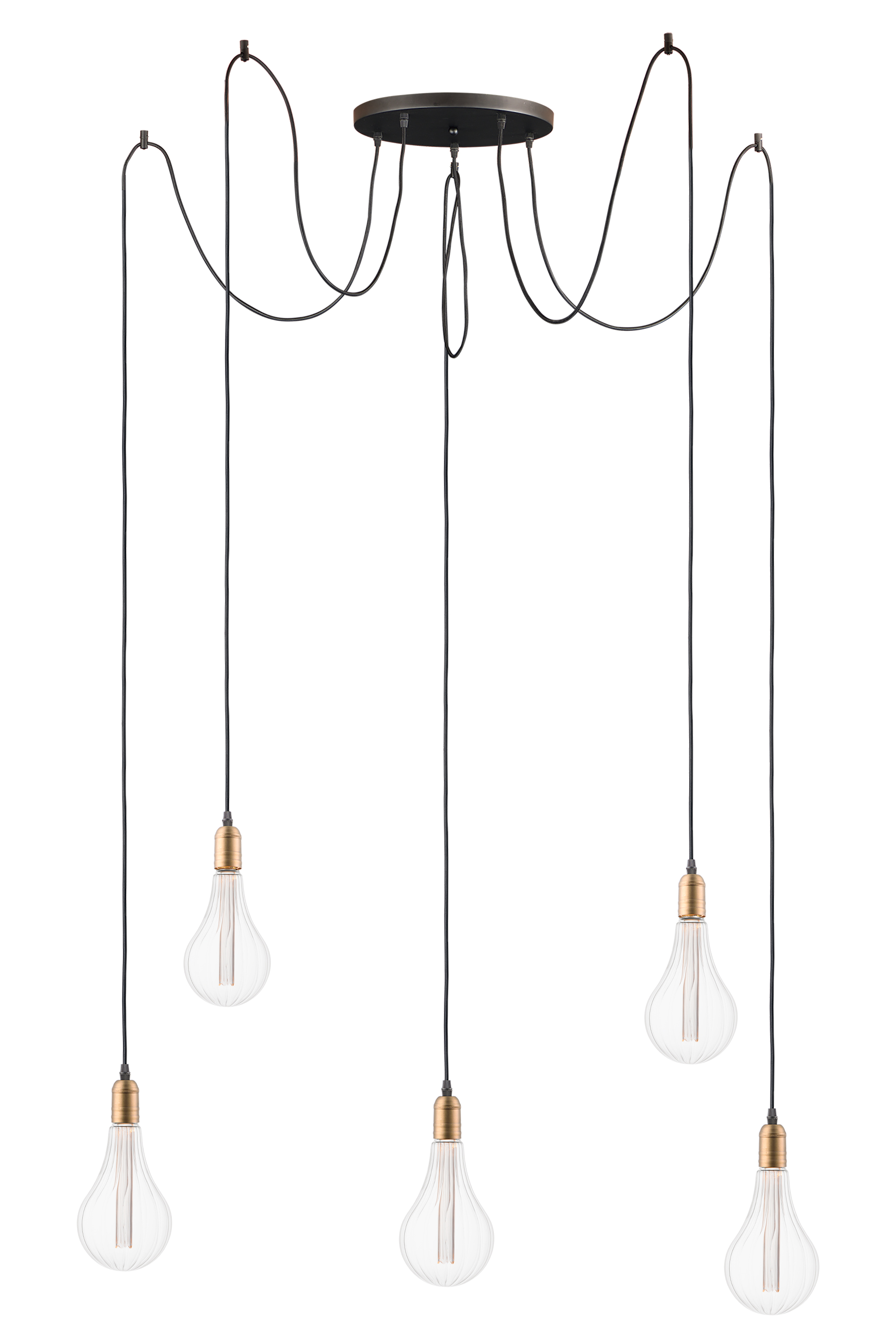 Early Electric 5 Light Pendant With A52 Led Bulbs Multi