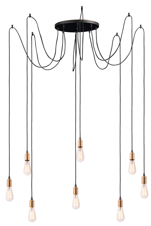 Early Electric 8 Light Pendant Pendant Maxim Lighting