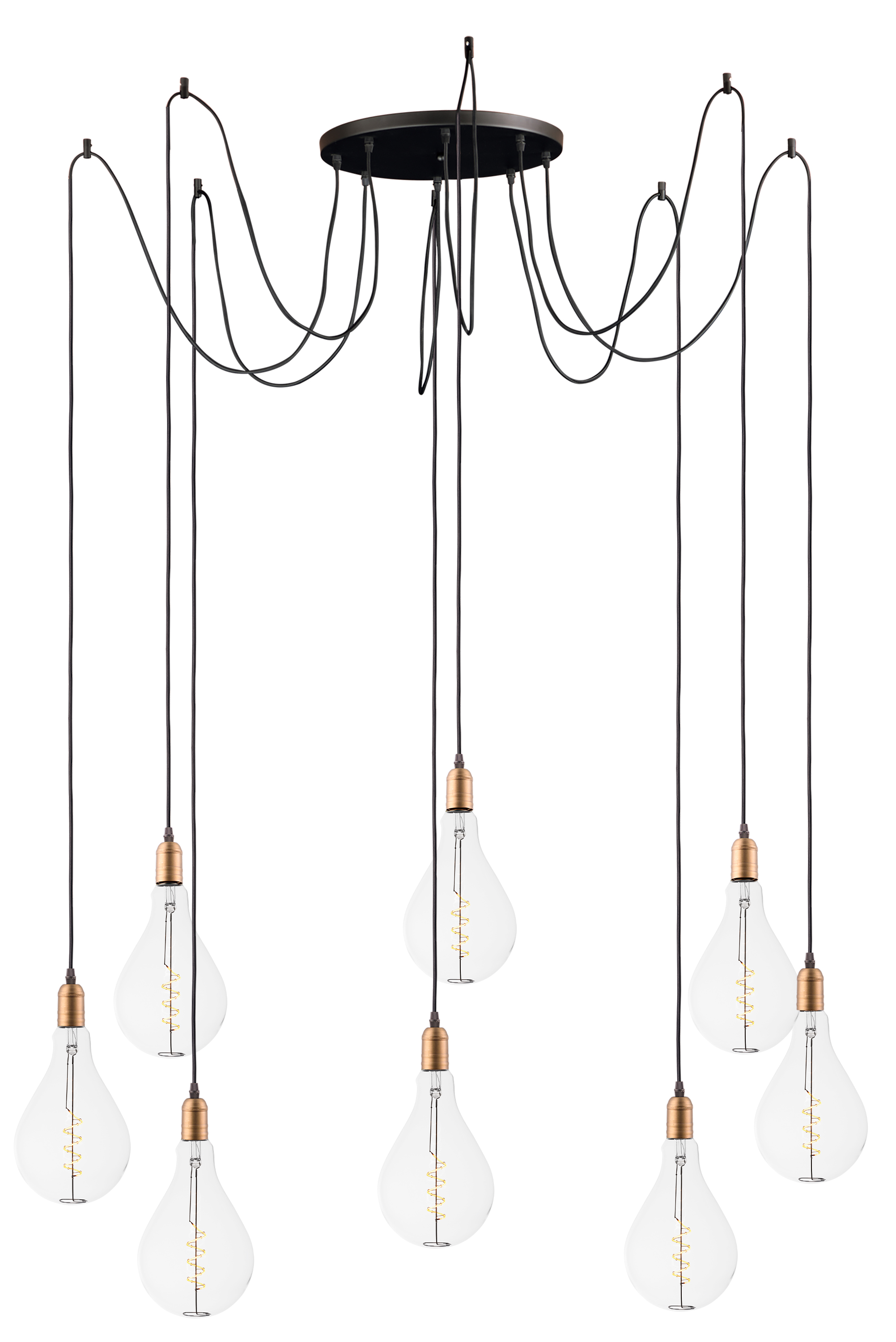Early Electric 8 Light Pendant With A50 Led Bulbs Multi
