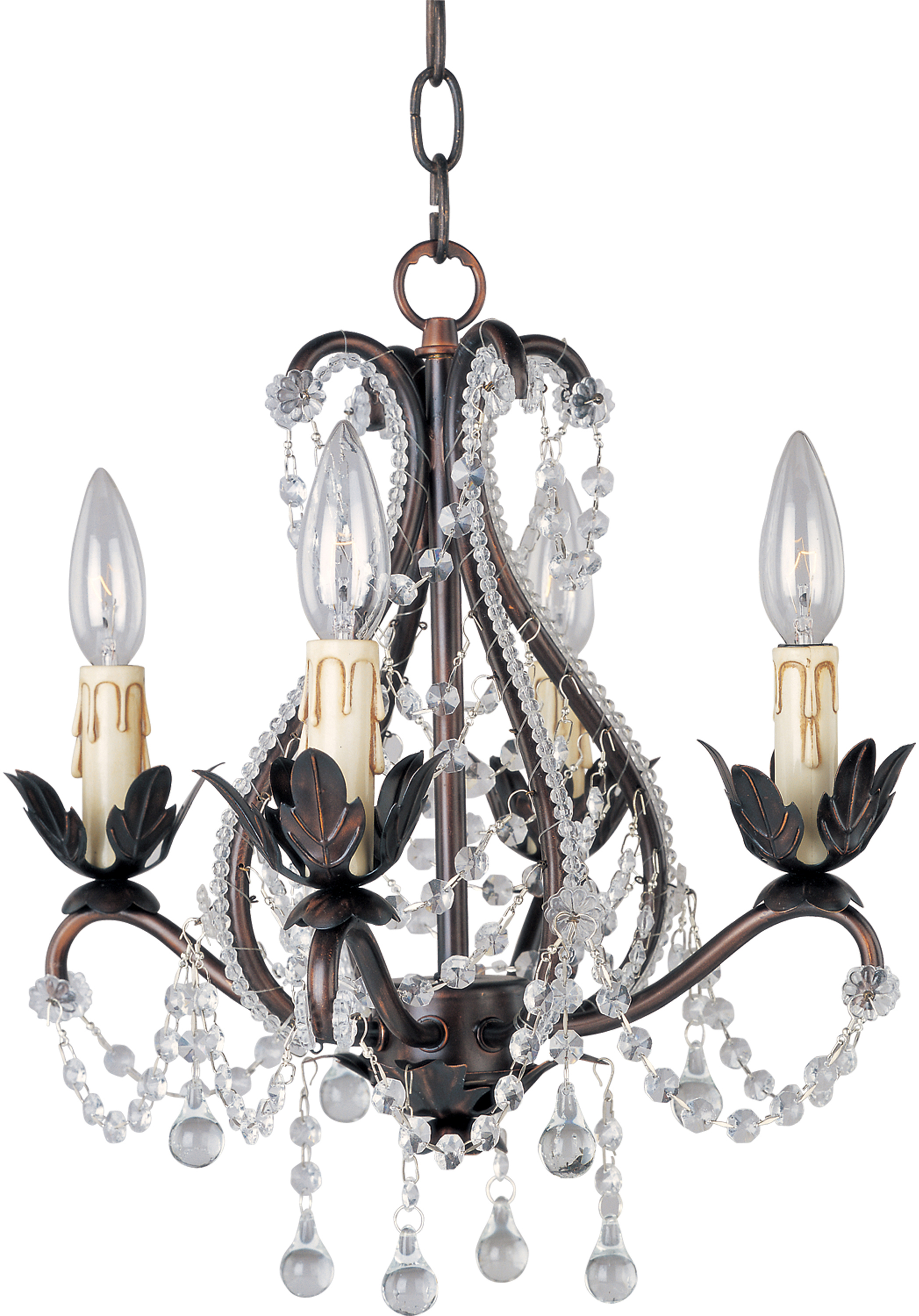 Katherine 4 Light Chandelier Mini Chandelier Maxim