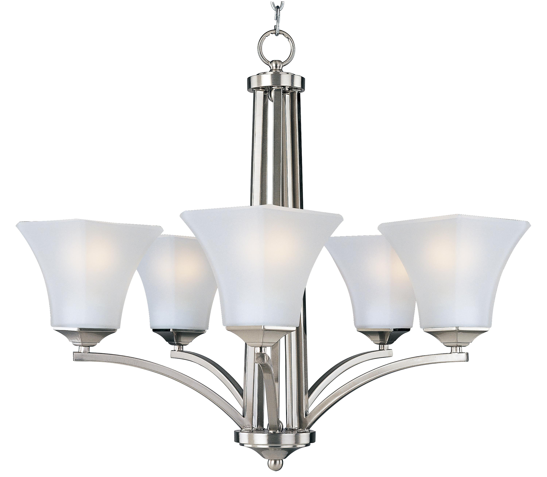 Aurora 5 light chandelier single tier chandelier maxim lighting aurora arubaitofo Image collections
