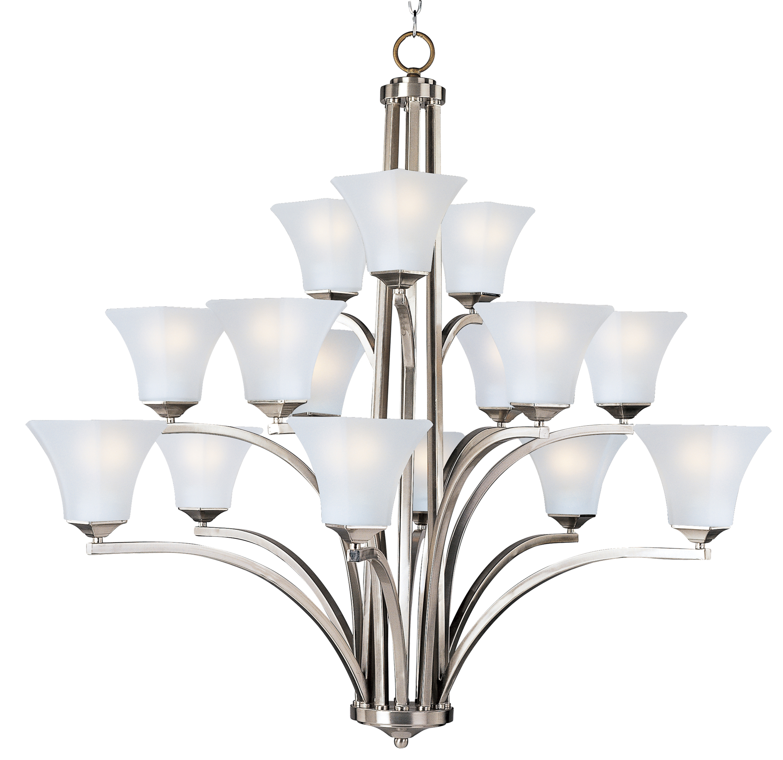 Aurora 15 light chandelier multi tier chandelier maxim lighting aurora arubaitofo Image collections