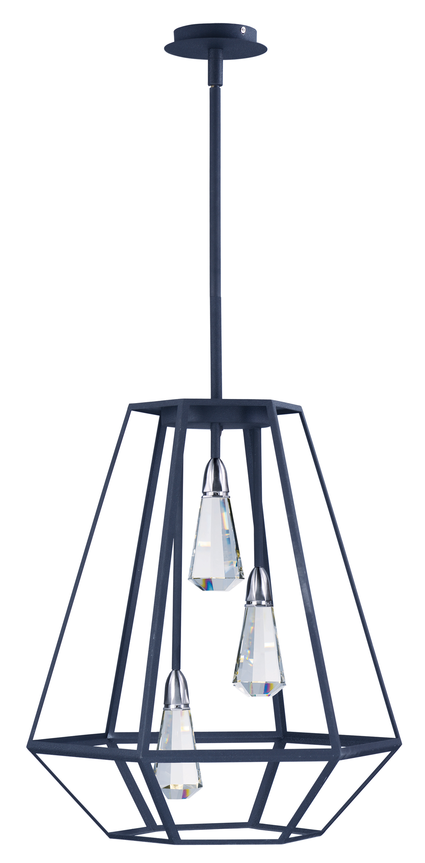 Silhouette 3 Light LED Pendant Single Pendant Maxim Lighting