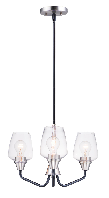 Goblet 3-Light Chandelier   Maxim Lighting
