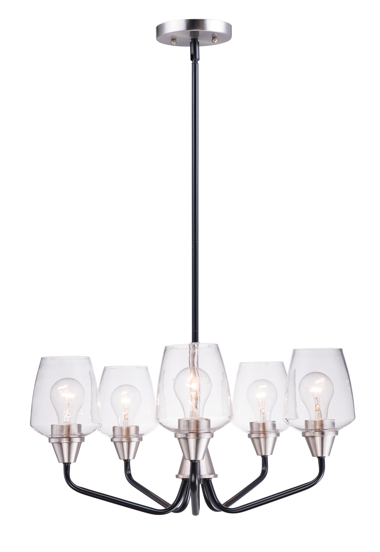 Goblet 5-Light Chandelier   Maxim Lighting