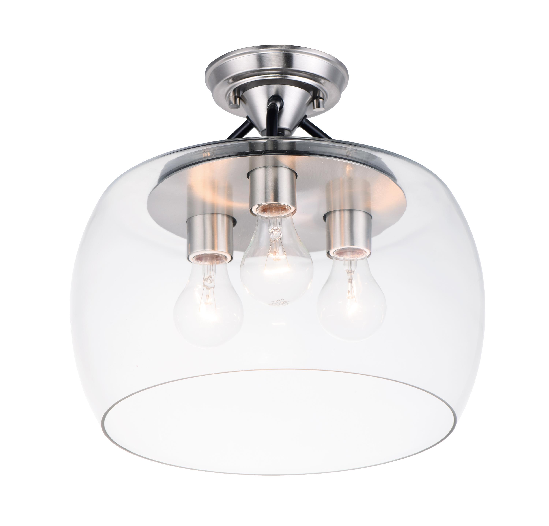 Goblet 3-Light Semi Flush Mount | Maxim Lighting