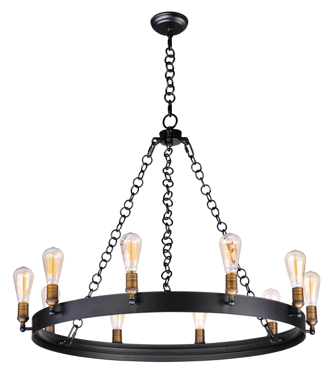 Noble 10-Light Chandelier | Maxim Lighting