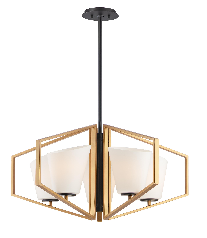 Oblique 5-Light Chandelier | Maxim Lighting