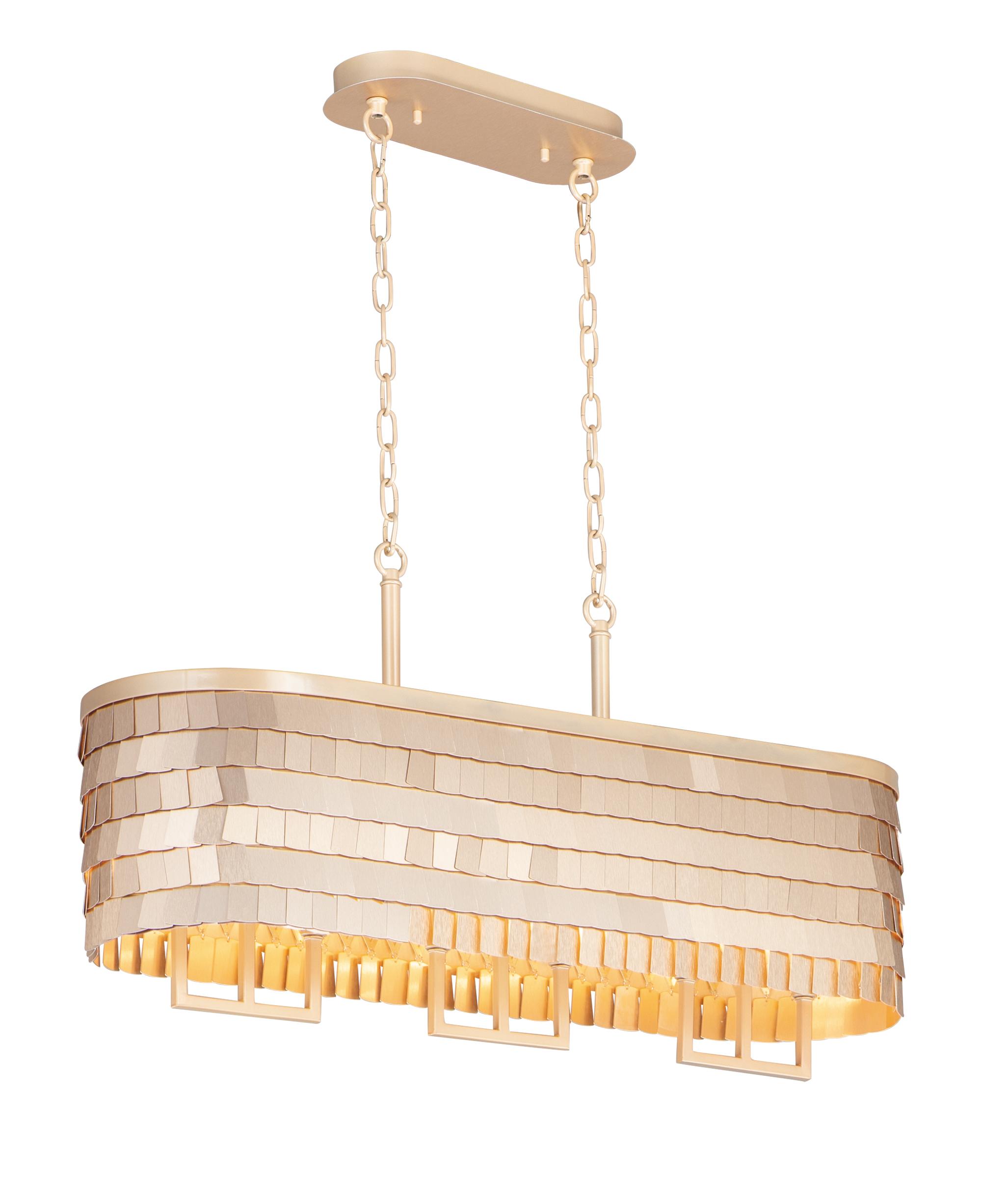 Glamour 6-Light Linear Chandelier | Maxim Lighting