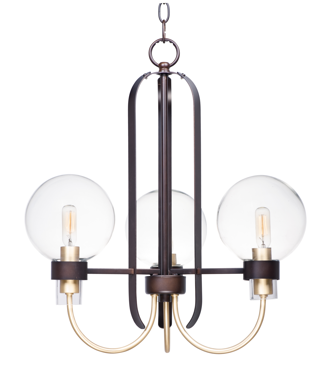 Bauhaus 3-Light Chandelier   Maxim Lighting