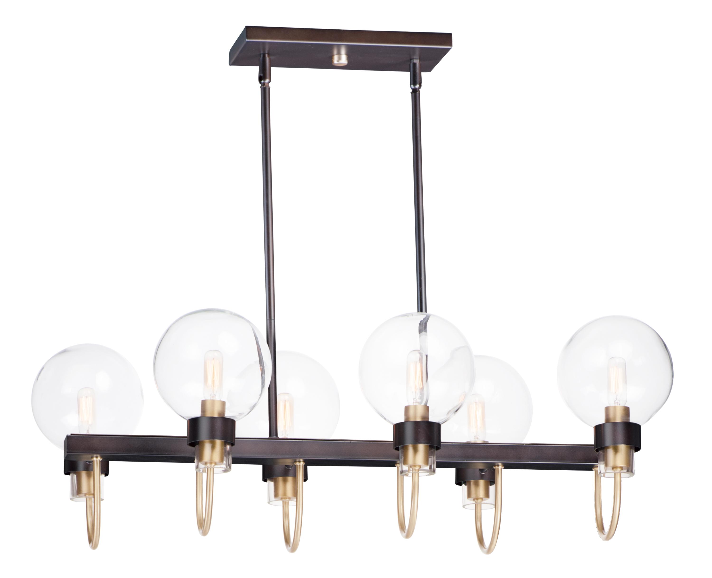 Bauhaus 6-Light Linear Chandelier | Maxim Lighting
