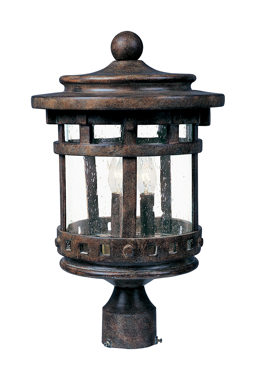 santa barbara lighting maxim santa barbara dc cast 3lt outdoor polepost lantern maxim
