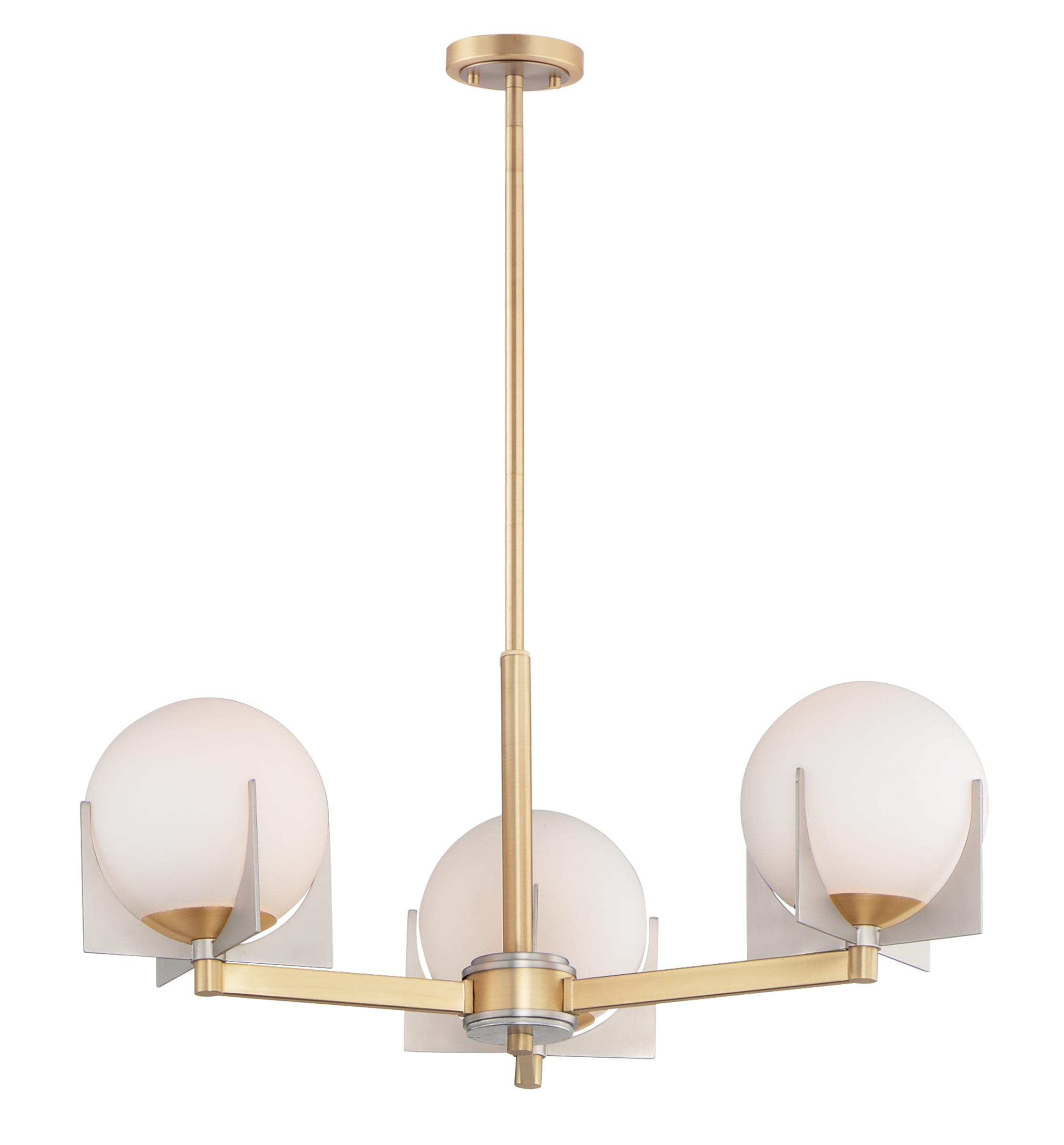 Finn 3-Light Chandelier   Maxim Lighting