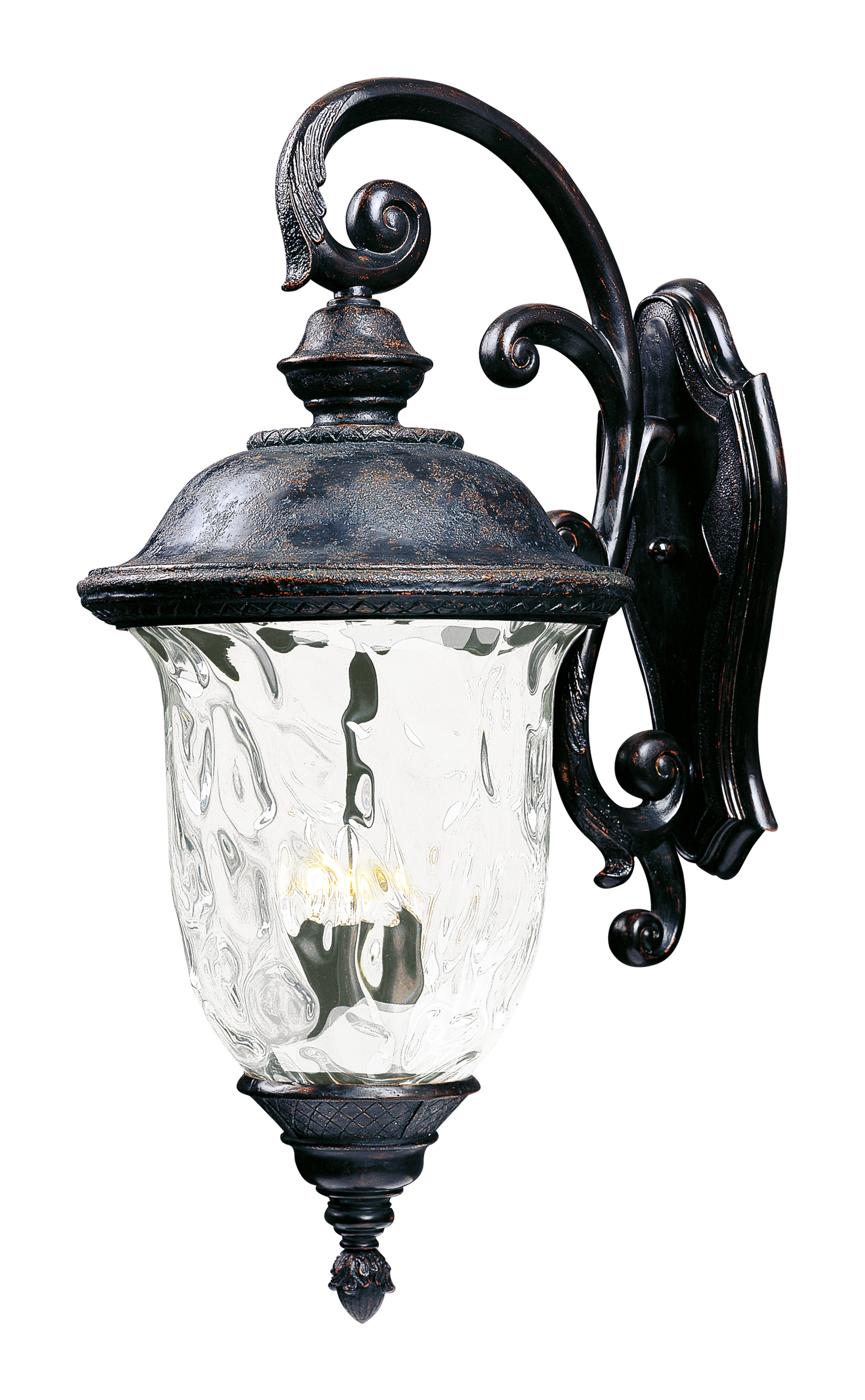 Wall Mounted Carriage Lamps : Carriage House DC 3-Light Outdoor Wall Lantern - Outdoor Wall Mount - Maxim Lighting