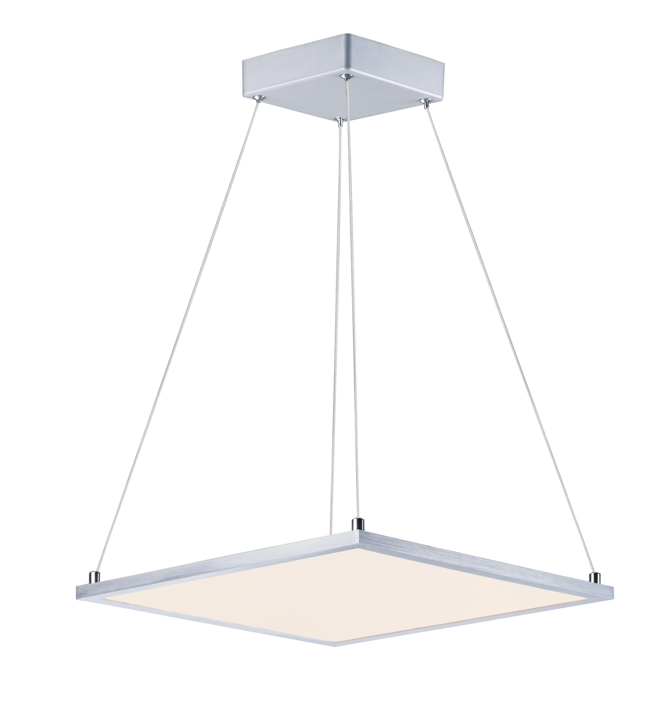 Wafer 15-inch Square LED Pendant 3000K | Maxim Lighting