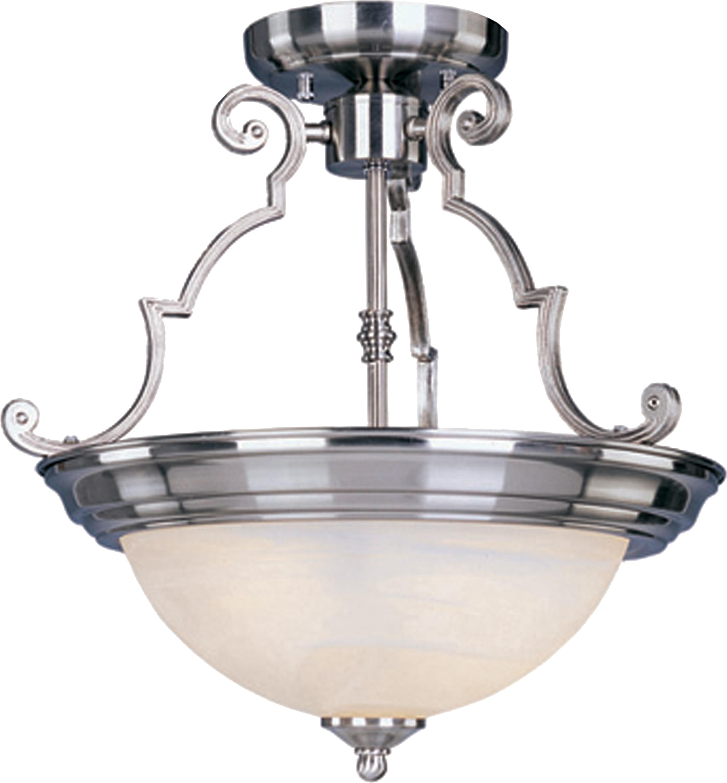 Essentials 3-Light Semi-Flush Mount | Maxim Lighting