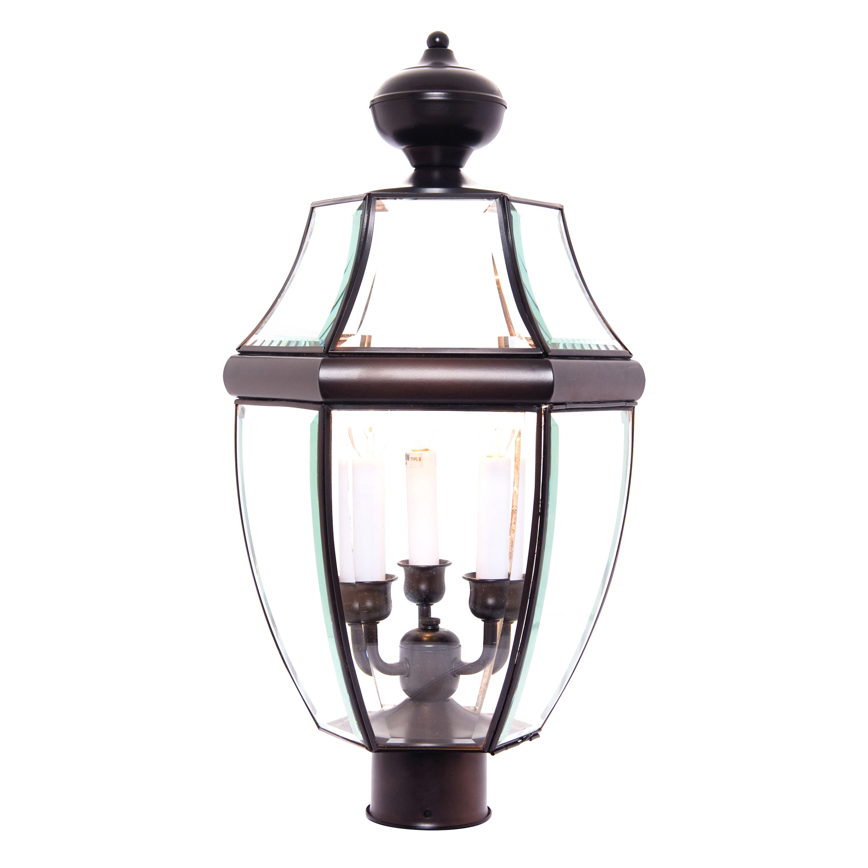 South Park 3-Light Outdoor Post Lantern   Maxim Lighting