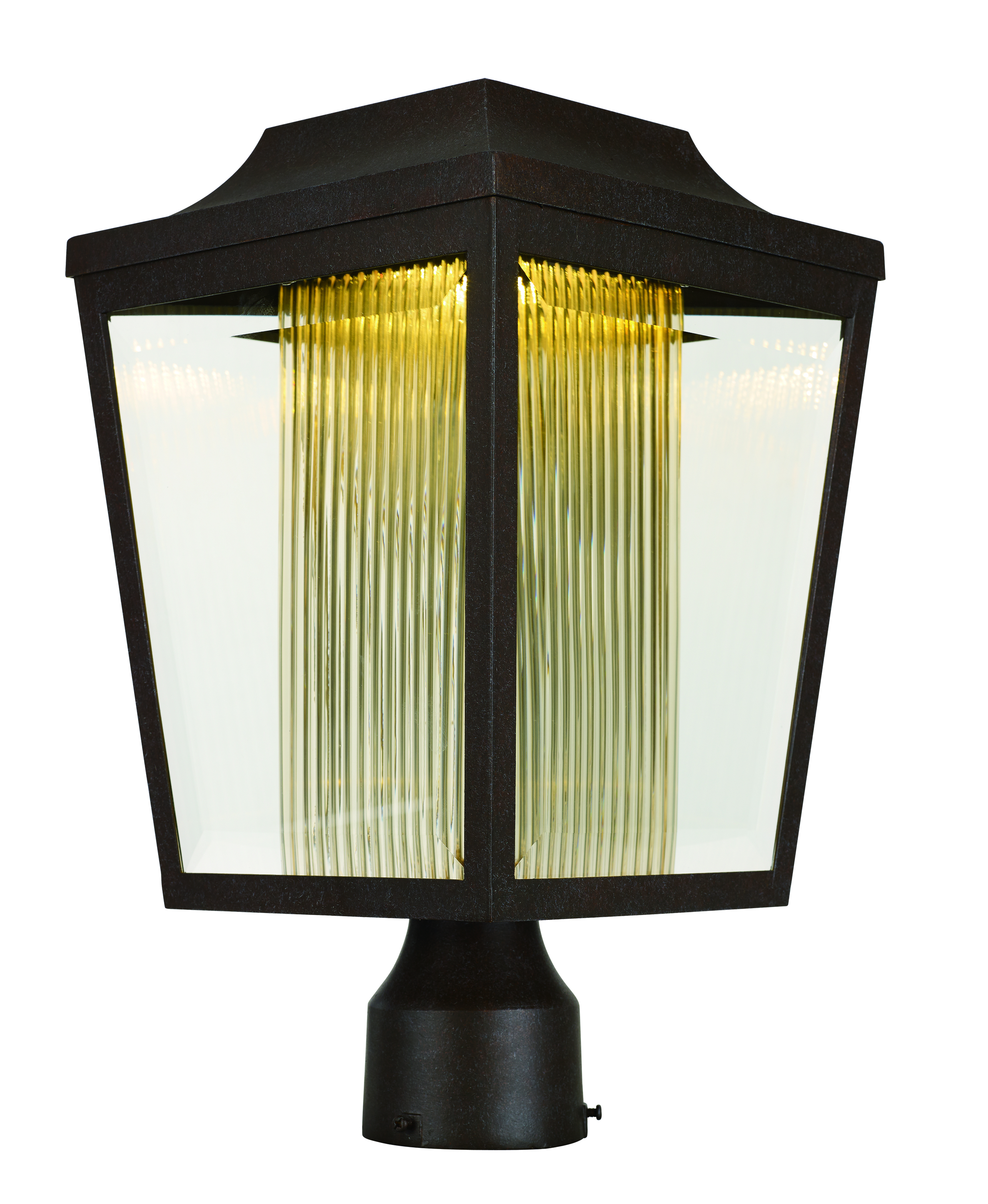 Outdoor Post Lights Led: Maxim 85630CLTRAE Villa LED Outdoor Post Light In Adobe