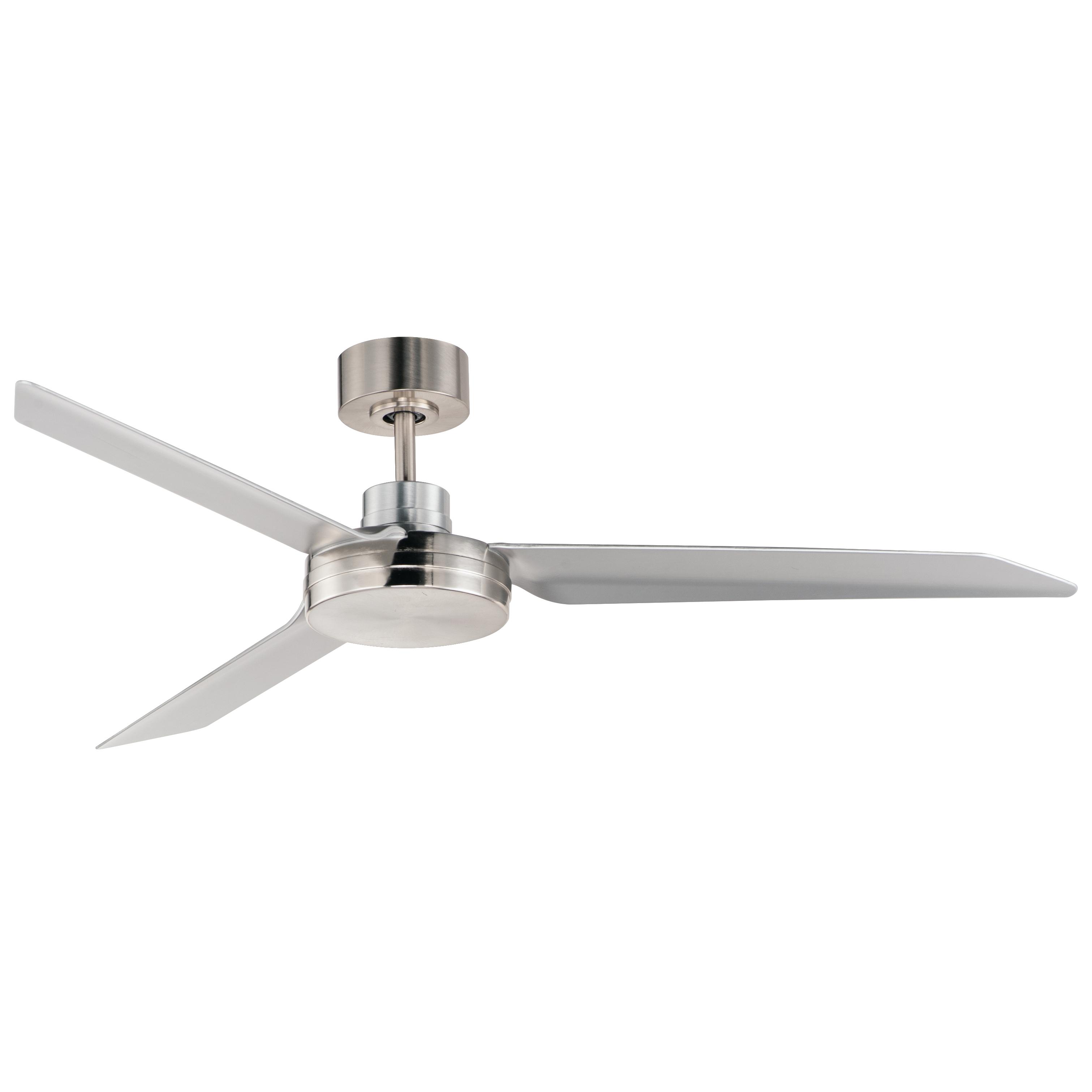 Ultra Slim 52-inch Outdoor Fan Nickel | Maxim Lighting