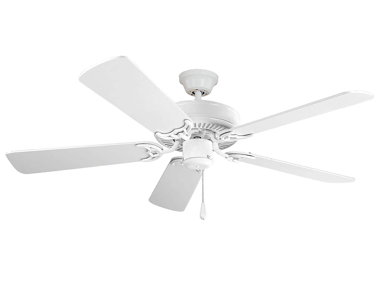 Basic-Max 52-inch Ceiling Fan White Light Oak Blades | Maxim Lighting