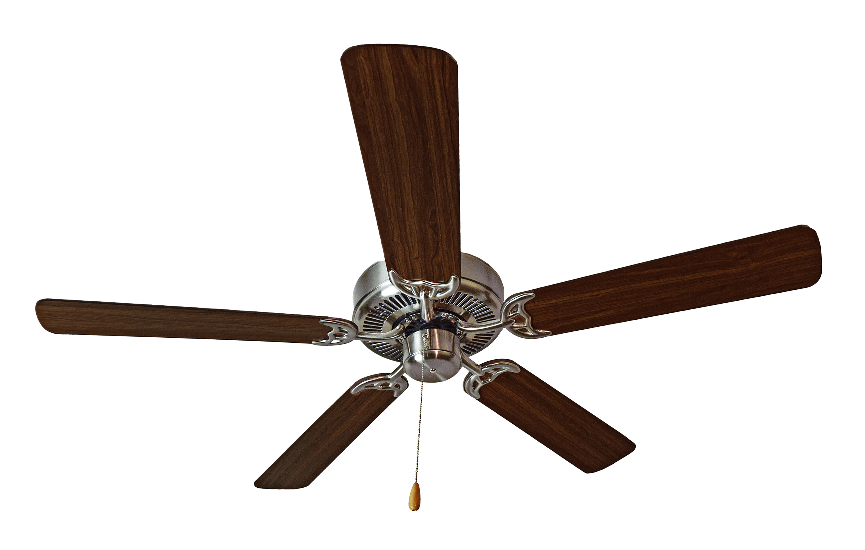 "Basic Max 52"" Ceiling Fan Walnut Pecan Blades Indoor Ceiling Fan"