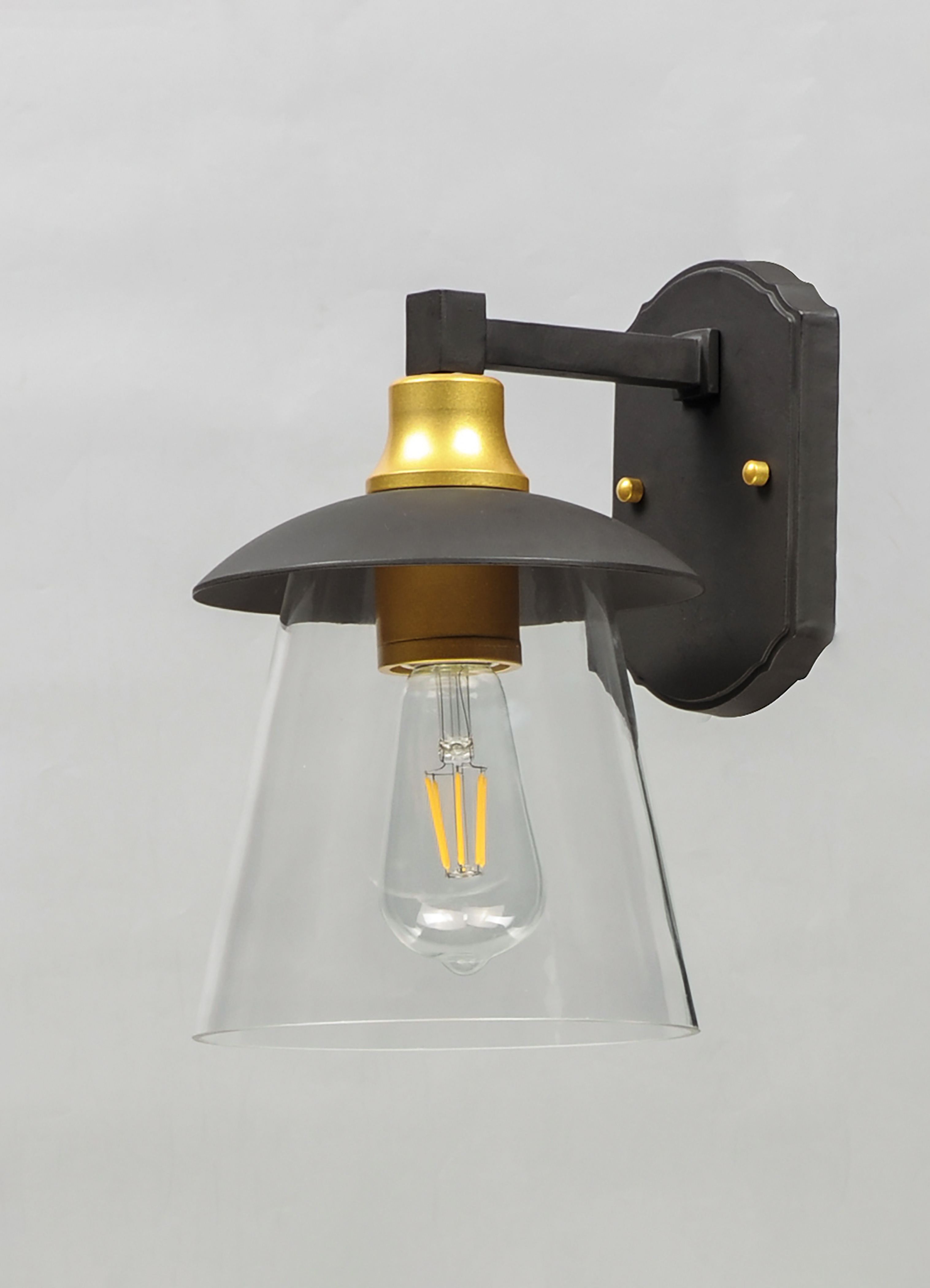Crib LED 1-Light Outdoor Wall Sconce on Wall Sconce Replacement Parts id=59110