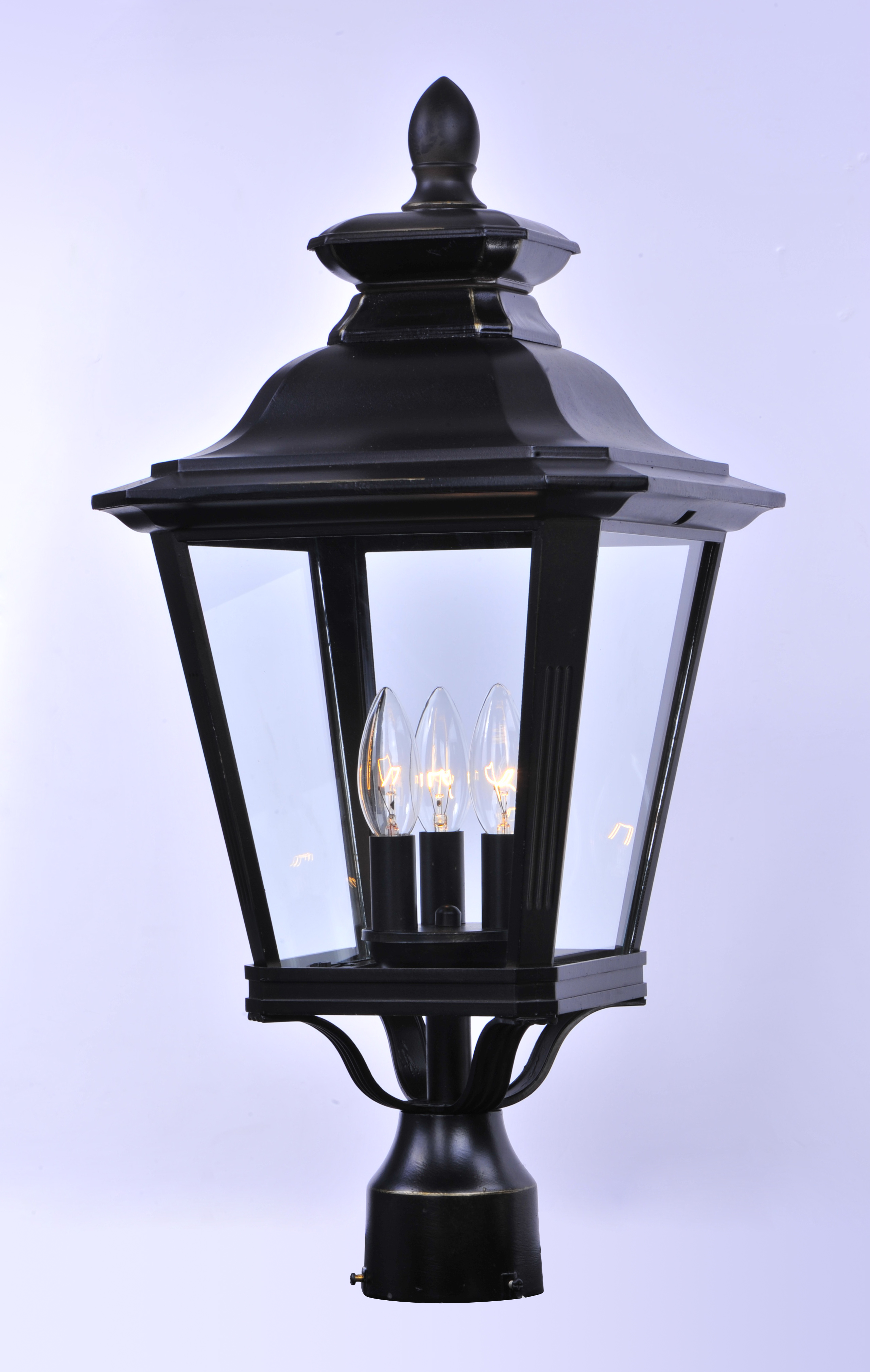 Knoxville 3 light outdoor post outdoor pole post mount for Outside yard lights
