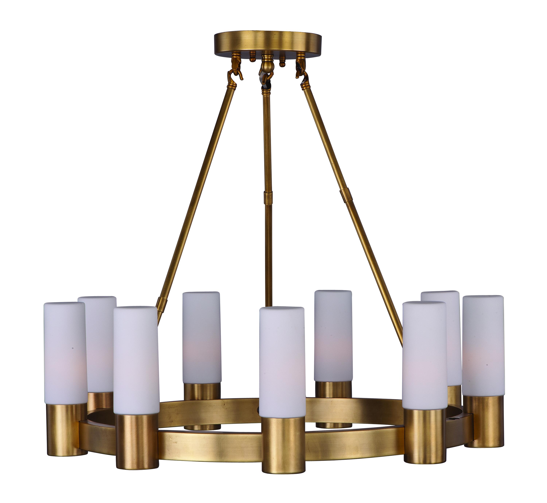 contessa 9 light chandelier single tier chandelier maxim lighting