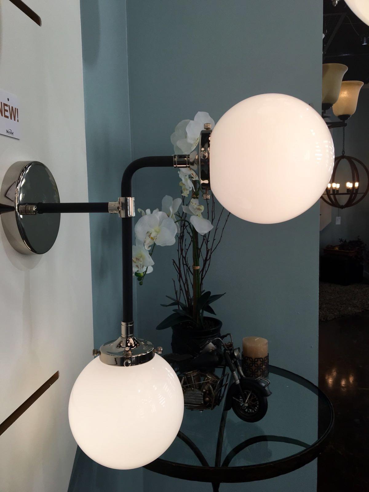 Atom Light Wall Sconce Wall Sconce Maxim Lighting - 2 light bathroom sconce