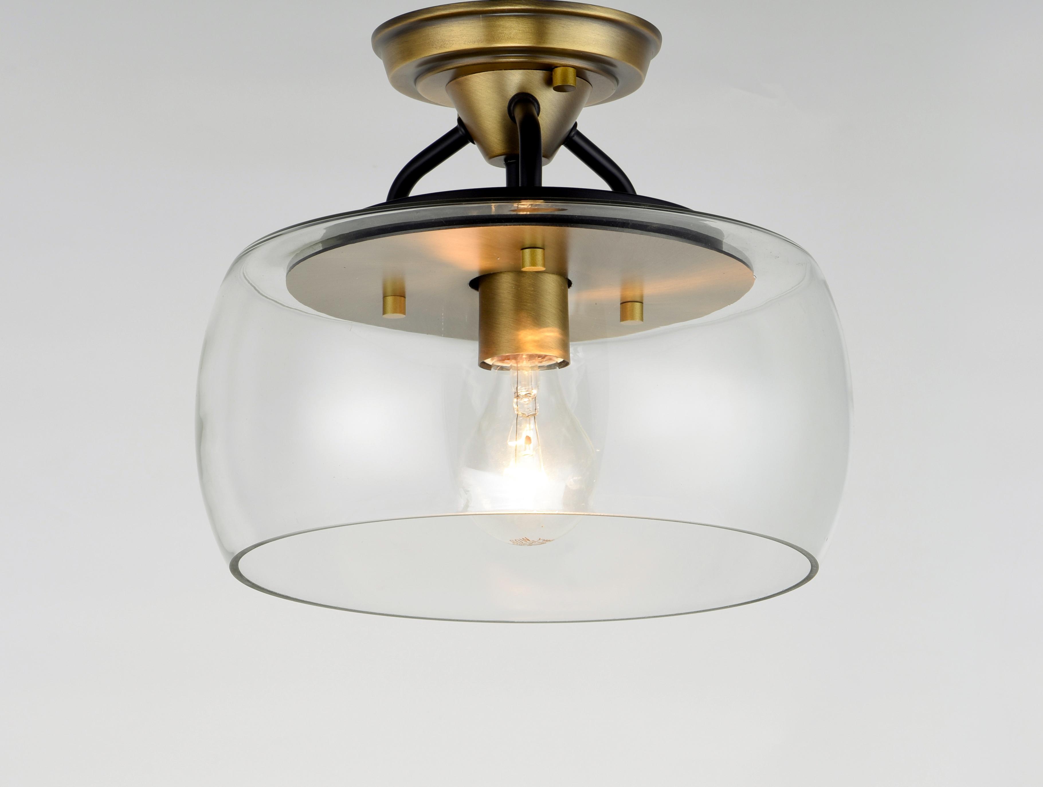 Goblet 1 light semi flush mount