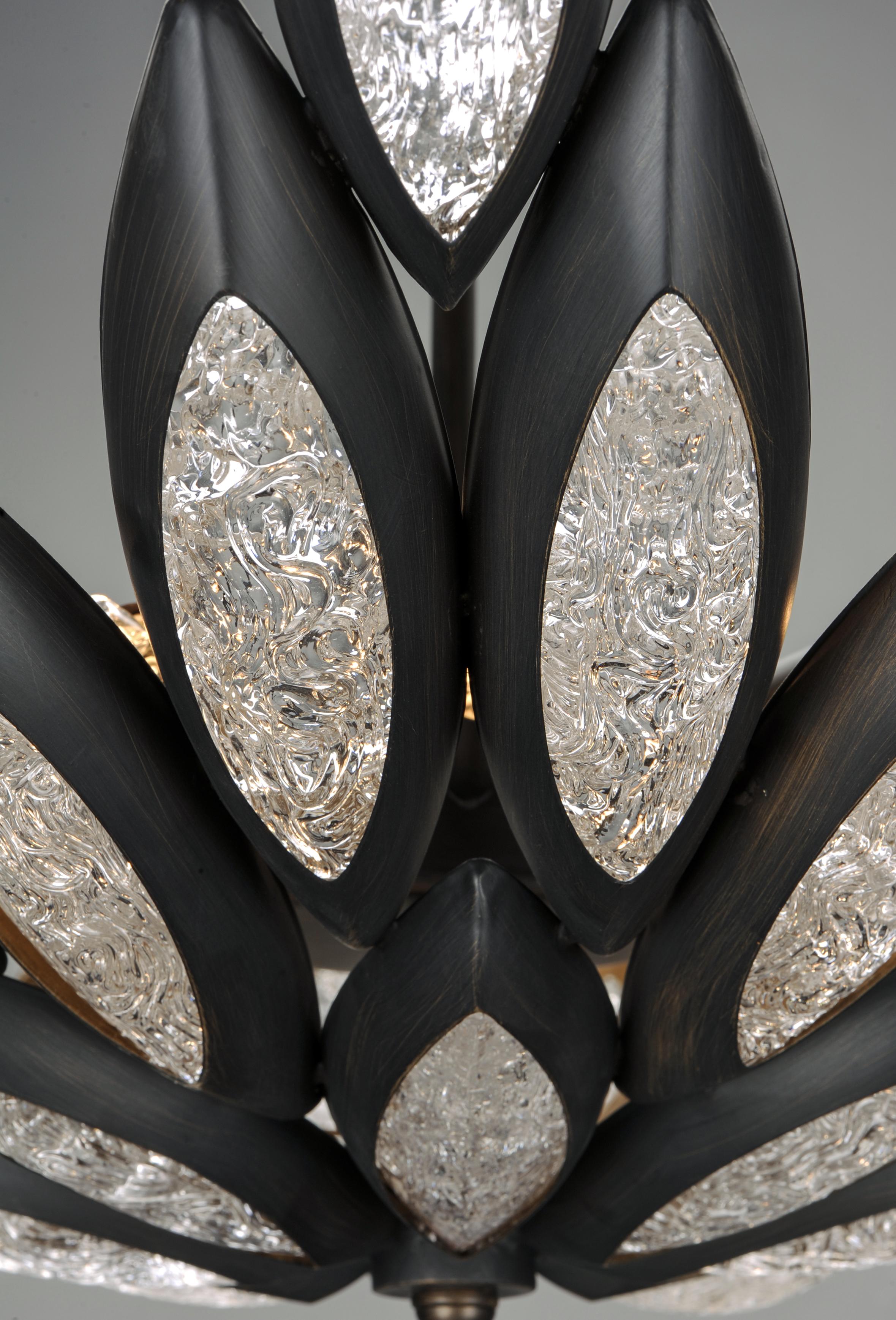 Lotus 12 Light Pendant