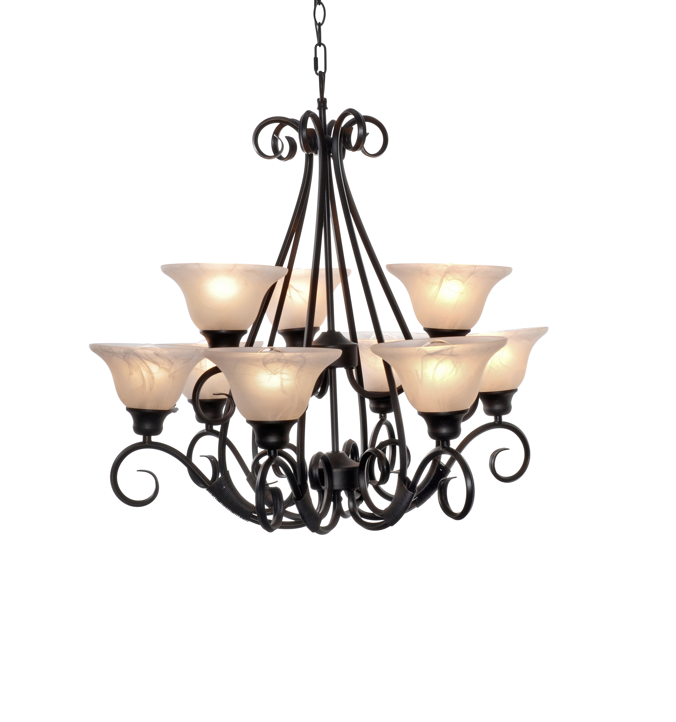 pacific 9 light chandelier multi tier chandelier maxim. Black Bedroom Furniture Sets. Home Design Ideas