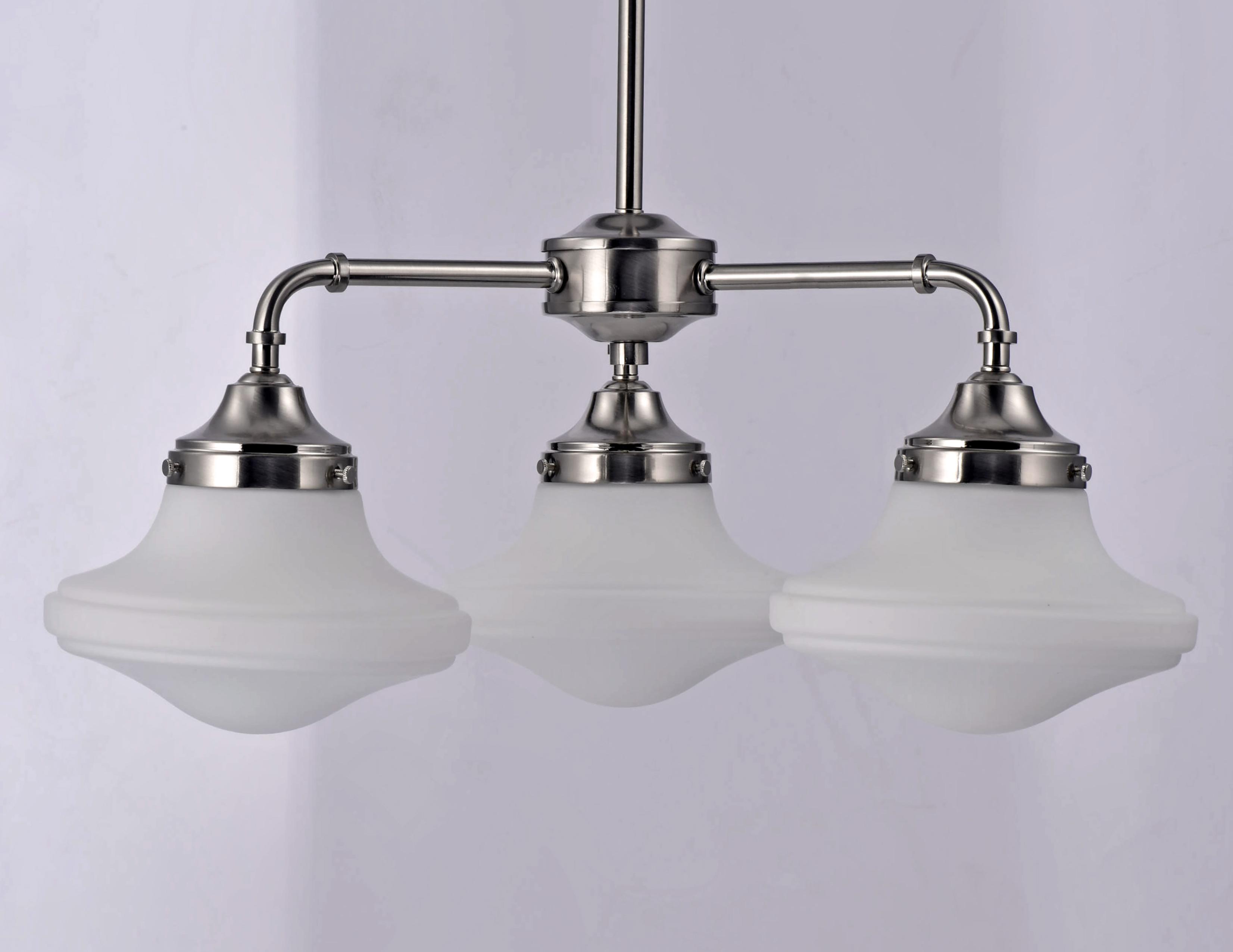 New School 3 Light LED Chandelier