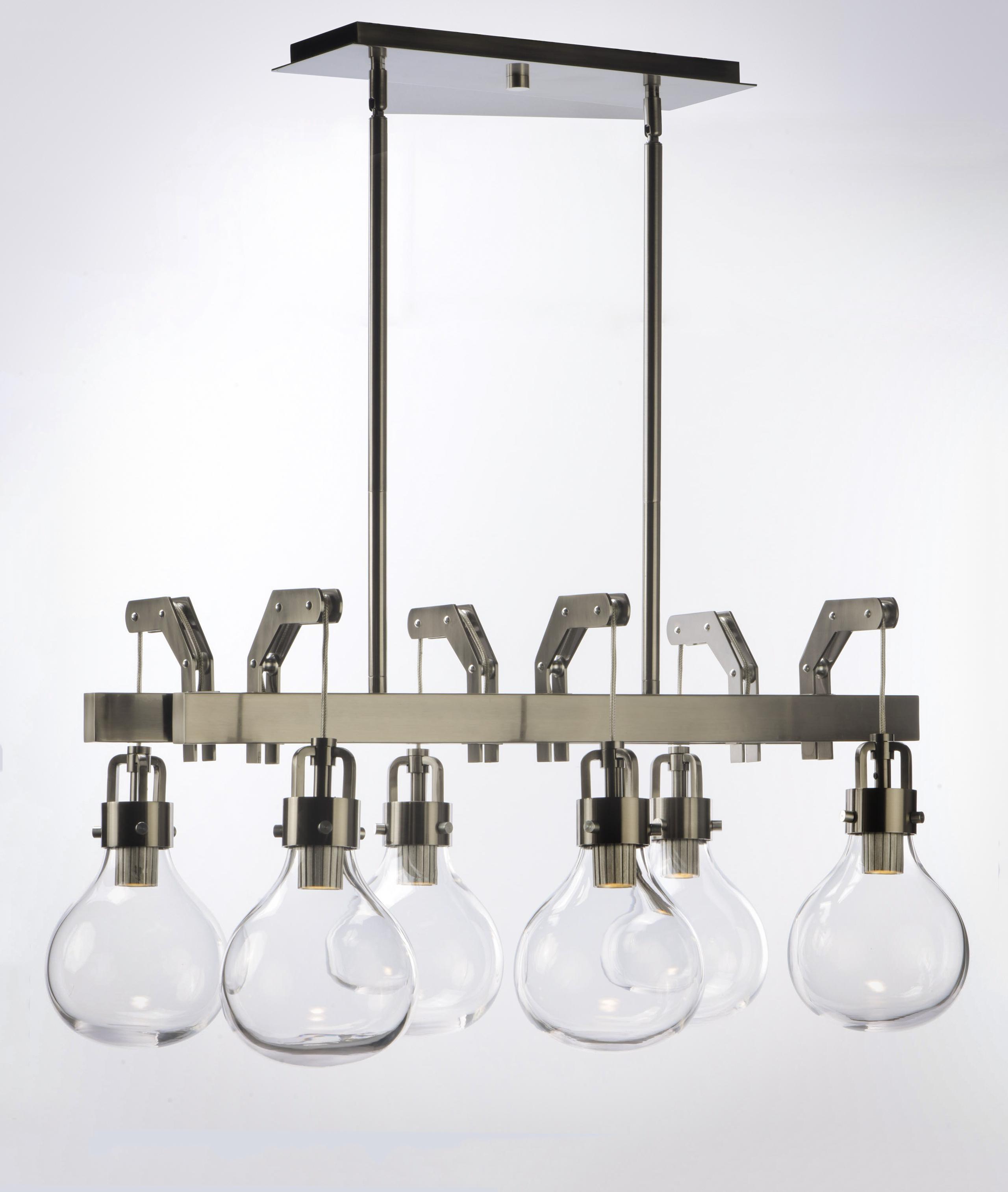 Kinetic LED 6-Light Linear Pendant