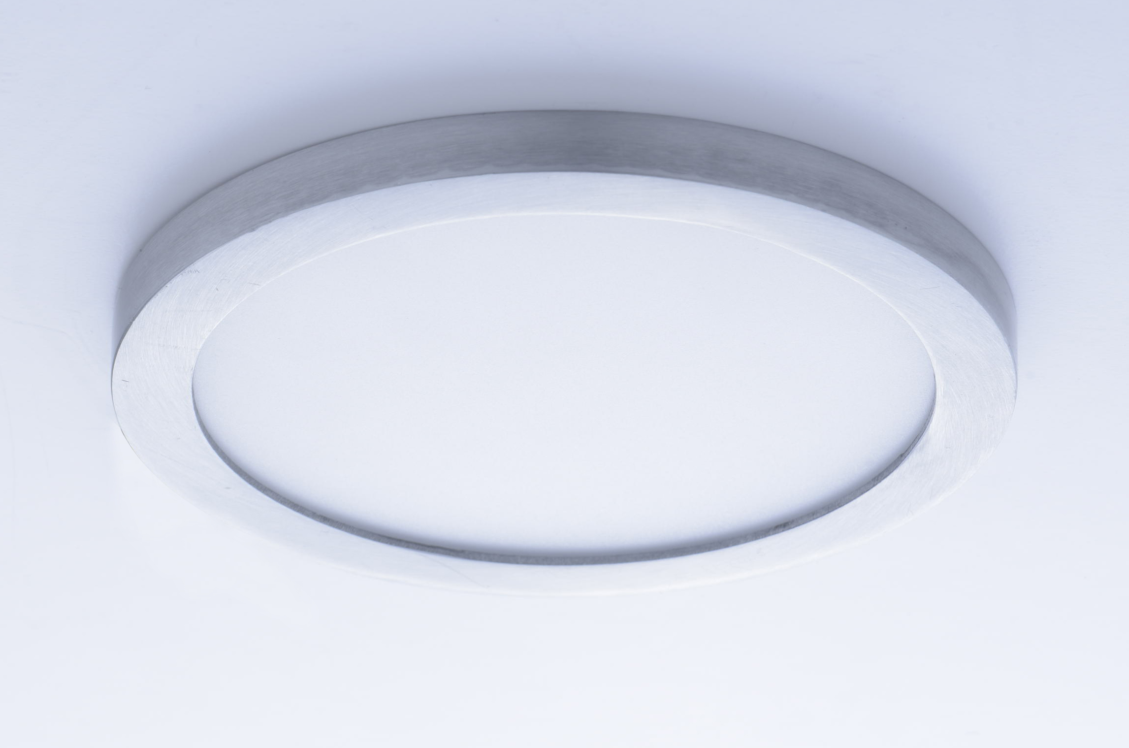 Wafer led 7 rd 3000k wall flush mount flush mount for Flush with the wall