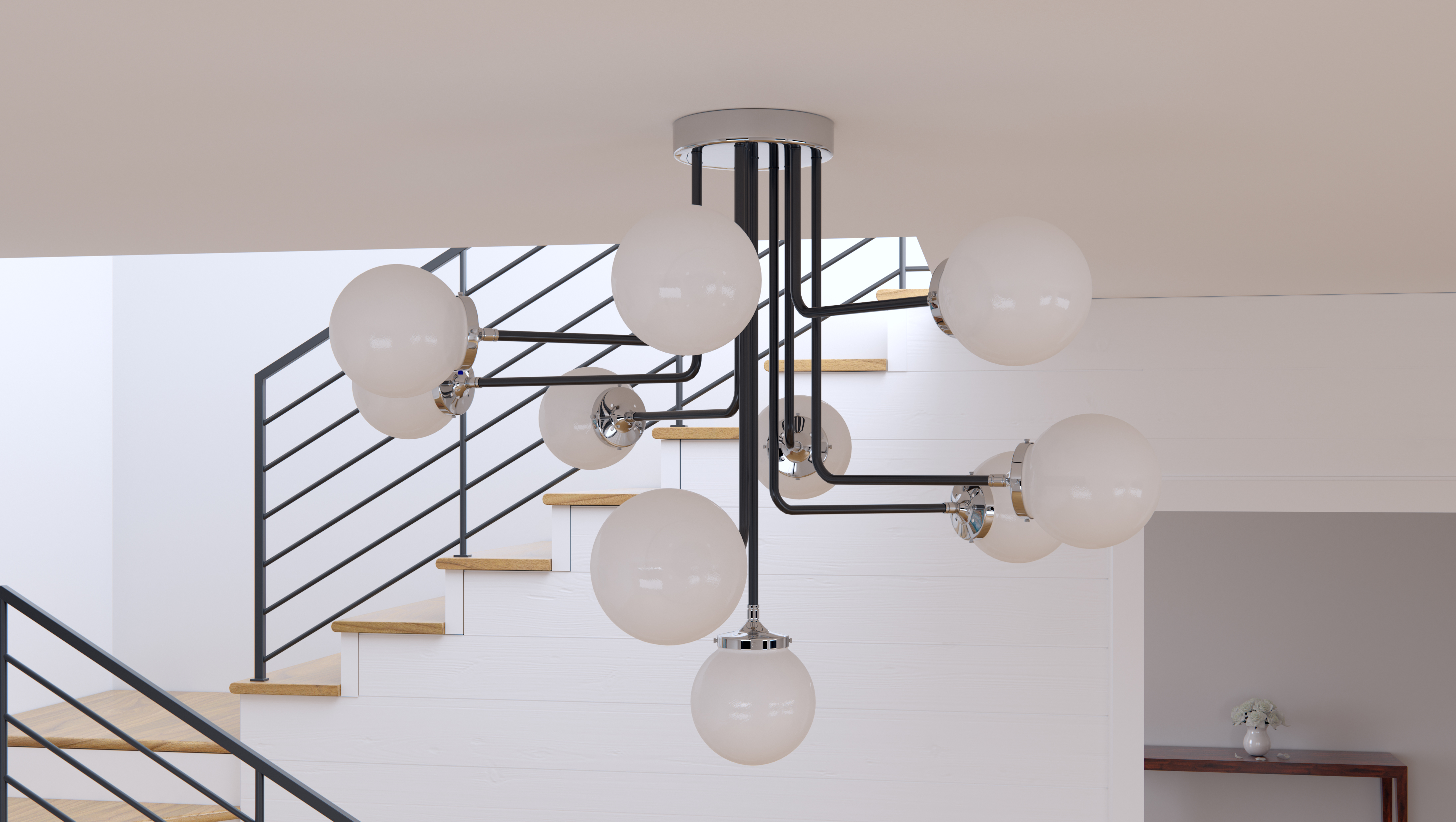 ... Atom 8-Light Pendant  sc 1 st  Maxim Lighting & Atom 8-Light Pendant - Multi-Light Pendant - Maxim Lighting azcodes.com