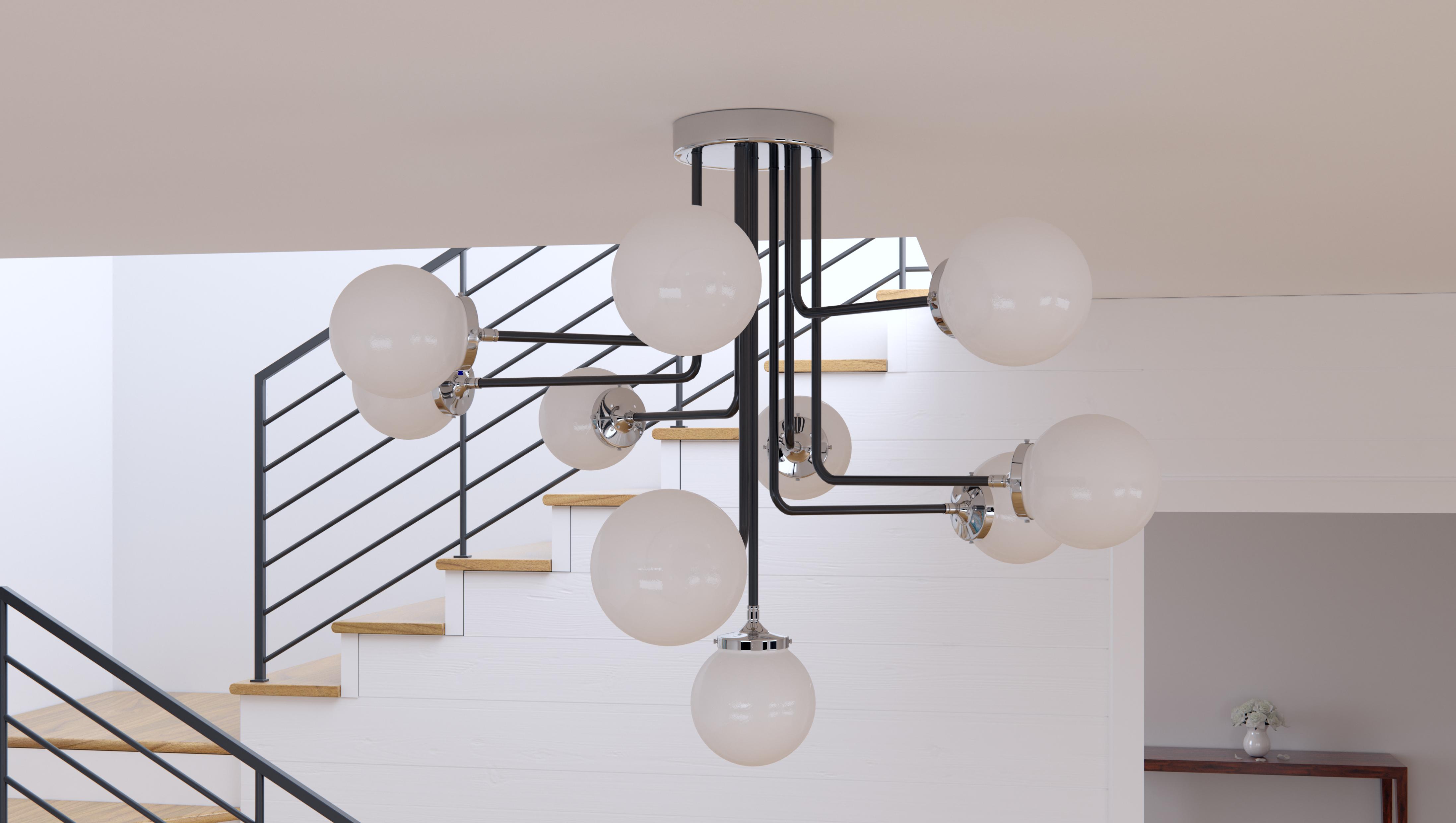 Atom 8 Light Pendant Multi Light Pendant Maxim Lighting