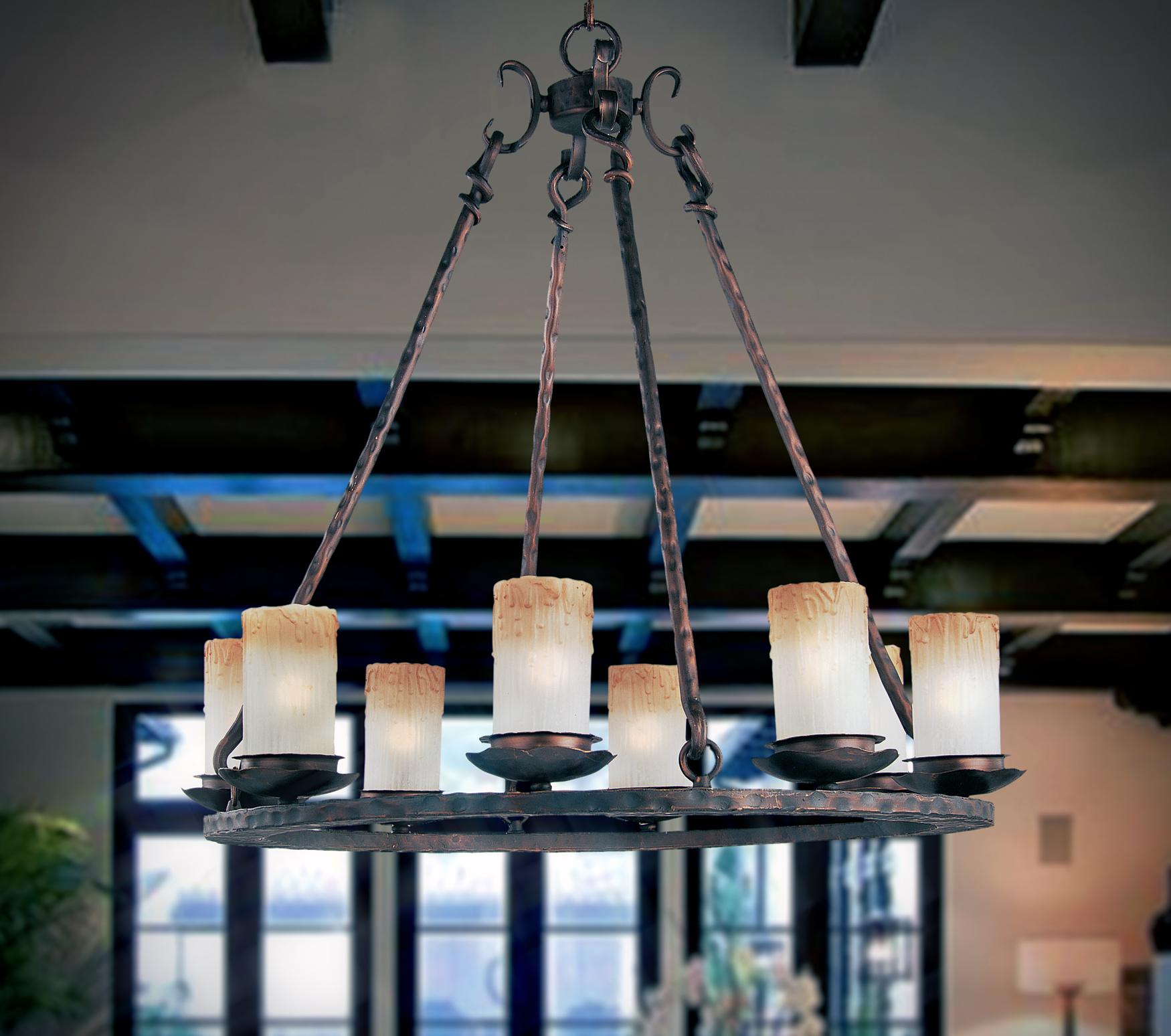 Notre dame 8 light chandelier single tier chandelier maxim lighting notre dame 8 light chandelier arubaitofo Images