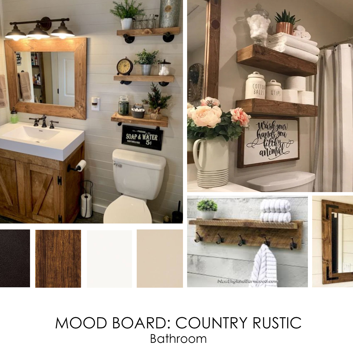 Country Rustic Bathroom