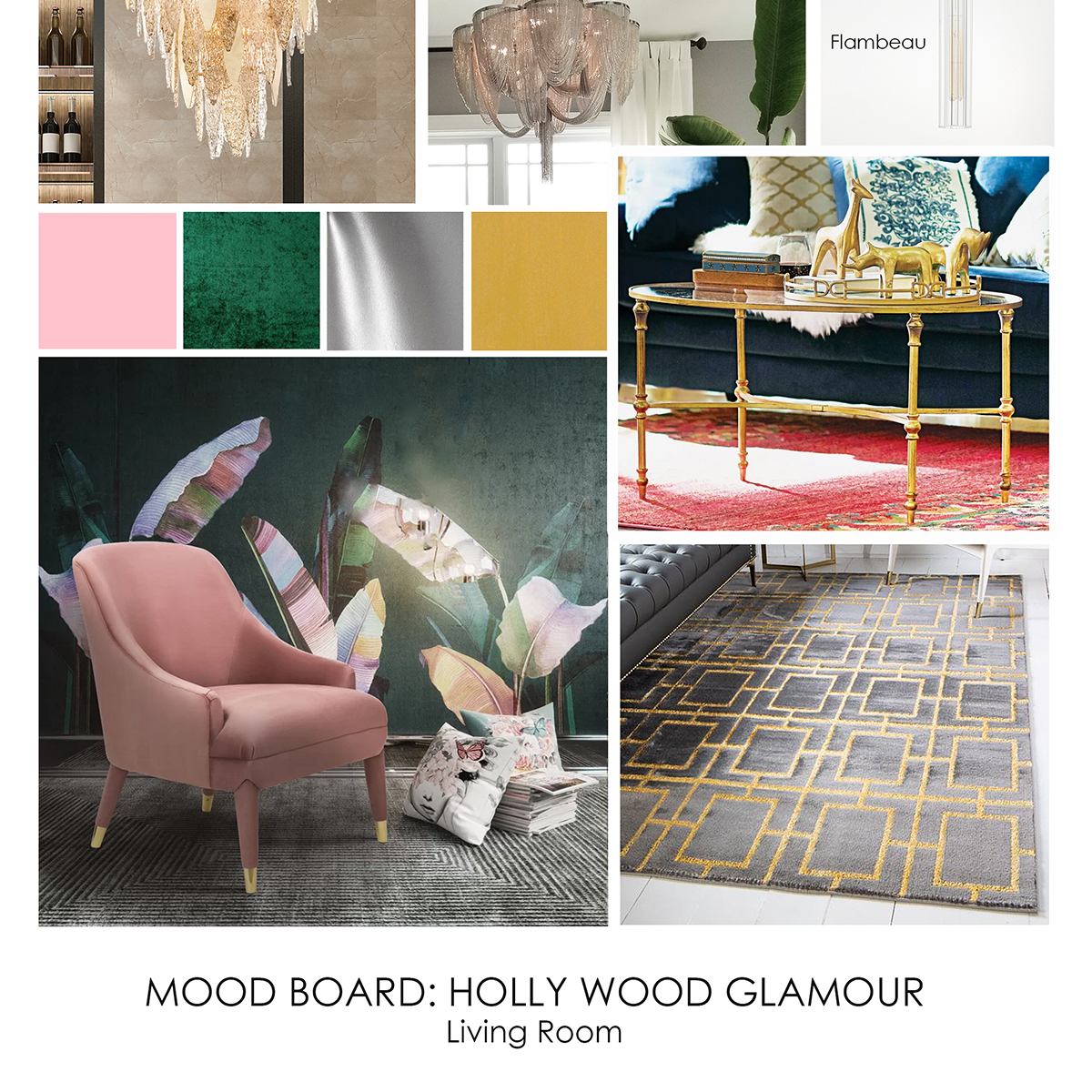 Hollywood Glam Living Room