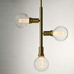Molecule 3-Light Pendant with G40 PR LED Bulbs