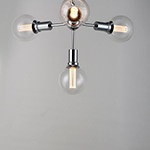 Molecule 4-Light Pendant with G40 CL LED Bulbs