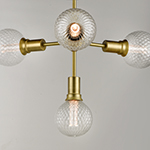 Molecule 4-Light Pendant with G40 PR LED Bulbs