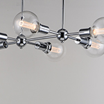 Molecule 6-Light Pendant with G40 CL LED Bulbs