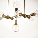 Molecule 8-Light Pendant with G40 PR LED Bulbs