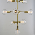 Molecule 9-Light Pendant with G40 PR LED Bulbs
