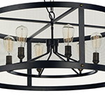 Palladium 5-Light Chandelier W/Bulbs