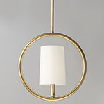 Meridian 1-Light Mini-Pendant/Semi Flush Mount